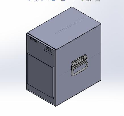 半导体led行业料盒周转用的铁盒子-东虹鑫防静电